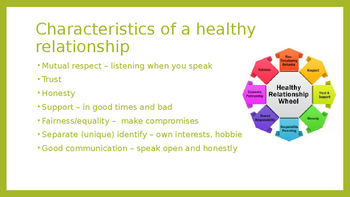 Relationships - healthy vs unhealthy