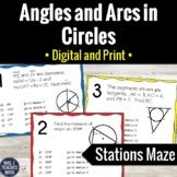 Angles and Arcs in Circles Activity | Digital and Print