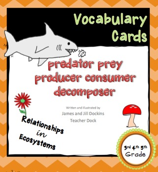 Relationships in Ecosystems Vocabulary Cards