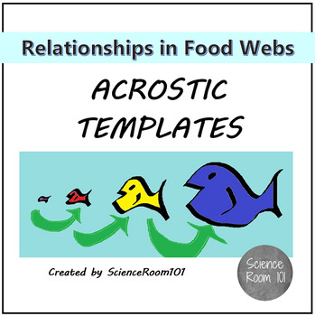 Relationships in Food Webs Acrostic Templates