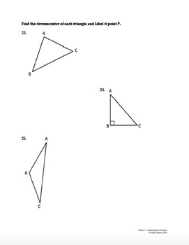 Relationships In Triangles Test By Ashley Spencer Tpt