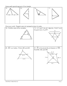 Relationships in Triangles Unit Bundle
