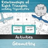 Relationships of Right Triangles, including Trig. - Unit 5