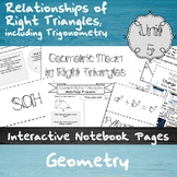 Relationships of  Right Triangles, including Trigonometry-