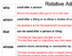 Relative Adjectives and Adverbs
