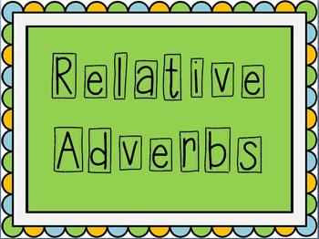 Relative Adverb PowerPoint