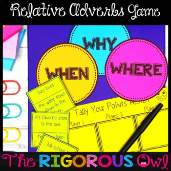 Relative Adverbs Activities