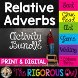 Relative Adverbs Activity Bundle