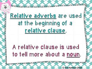 Relative Adverbs Mega Bundle
