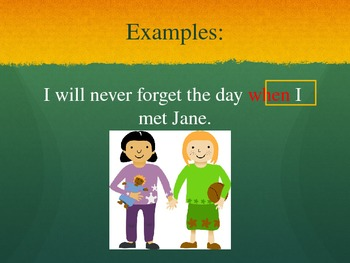 Relative Adverbs Powerpoint