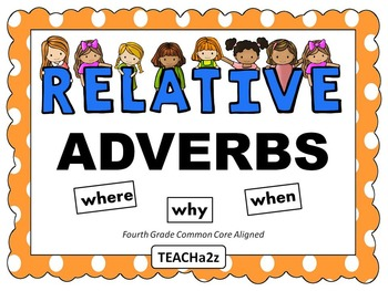 relative adverbs powerpoint and more 4th grade common core standard. Black Bedroom Furniture Sets. Home Design Ideas