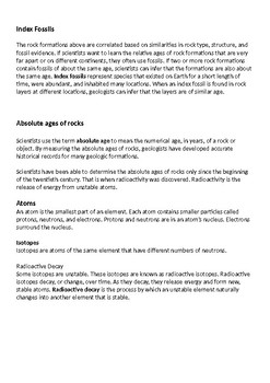 Relative age dating vs absolute age dating