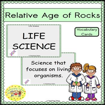 Relative Age of Rocks Vocabulary Cards