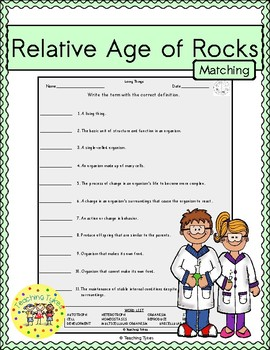 Relative Age of Rocks Matching