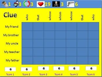 Battle Game for Relative Clauses (moderate mode)