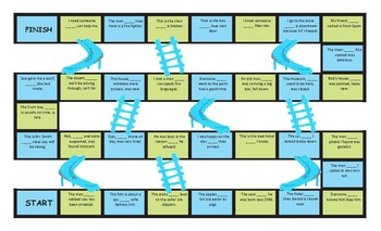 Relative Clauses Chutes and Ladders Board Game