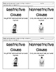 Relative Clauses: Restrictive & Nonrestrictive Clauses Foldable and Practice