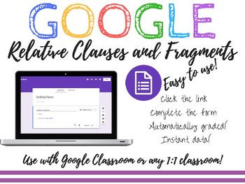 Relative Clauses and Fragments Assessment