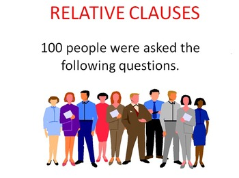 Family Fortune Game Show for Relative Clauses