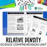 Relative Density Passage with Comprehension Activities | D