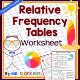 Relative Frequency Tables Statistics Math Worksheet / Acti