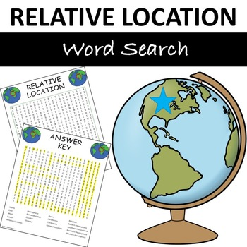 """Relative Location """"Word Search"""""""