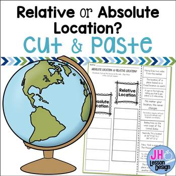 Absolute and Relative Location: Cut and Paste Sorting Activity
