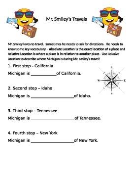 Relative Locationn- Mr. Smileys Travels