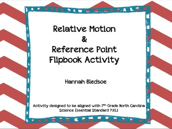 Relative Motion & Reference Point Flipbook Activity