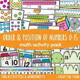 Relative Position of Numbers to 15 {Math Activities Pack #19}