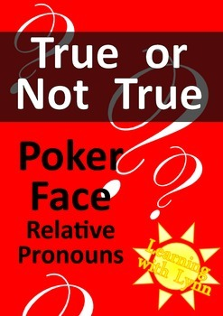 Relative Pronoun Activity or Ice Breaker for Elementary an