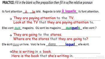 Relative Pronoun LEQUEL, AUQUEL (Pronon Relatif lequel): French Quick Lesson