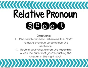Relative Pronoun Practice
