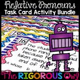 Relative Pronoun Task Card Activity Bundle