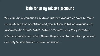 Relative Pronoun That Vs. Which