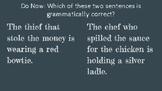 Relative Pronoun That Vs. Which