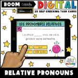 Relative Pronouns Digital Boom Cards for Distance Learning