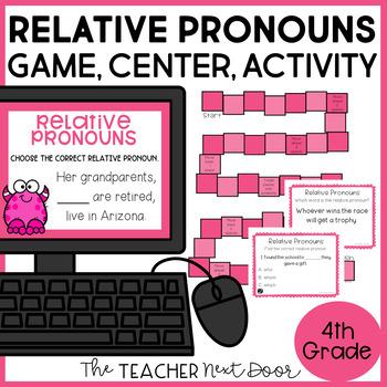 Relative Pronouns Game | Relative Pronouns Center | Relative Pronouns Activity