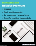 Relative Pronouns: Lesson + 2 Worksheets