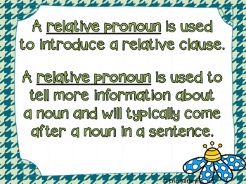 Relative Pronouns PowerPoint - Common Core Aligned