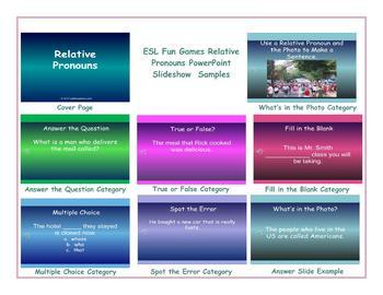 Relative Pronouns PowerPoint Slideshow
