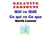 Relative Pronouns QUI and QUE: French Quick Lesson