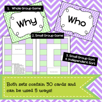 Relative Pronouns & Adverbs Game/Sort Pack (INC. DIGITAL VERSION)