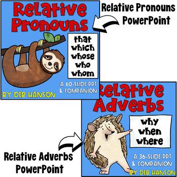 Relative Pronouns & Relative Adverbs: A Bundle of Activities