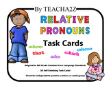 Relative Pronouns Task Cards