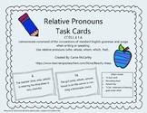 Relative Pronouns Task Cards