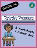Relative Pronouns Worksheets