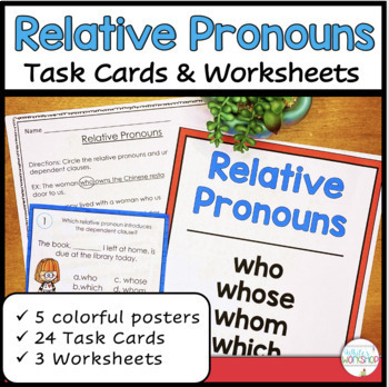 relative pronouns by white 39 s workshop teachers pay teachers. Black Bedroom Furniture Sets. Home Design Ideas
