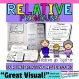 Relative Pronouns and Adverbs Activity {for INTERACTIVE NOTEBOOKS}