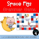 L.4.1.a Relative Pronouns and Relative Adverbs Game- Space Pigs!